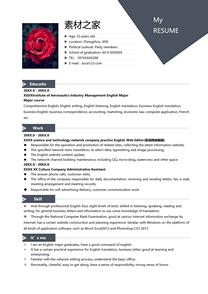 商务英语网络编辑英文简历模板