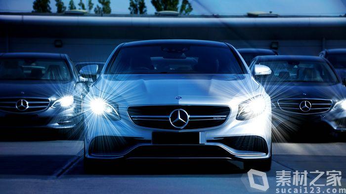 白色奔驰汽车高清图