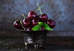 新鲜水果樱桃高清图