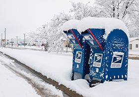 白雪皚皚的自然風光高清圖