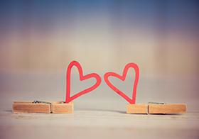 創意浪漫愛心背景高清圖