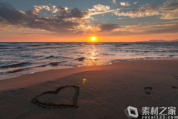 浪漫唯美海上日出高清图