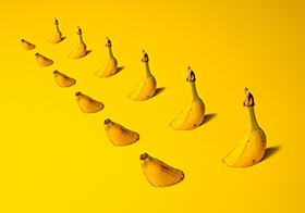 創意香蕉高清圖