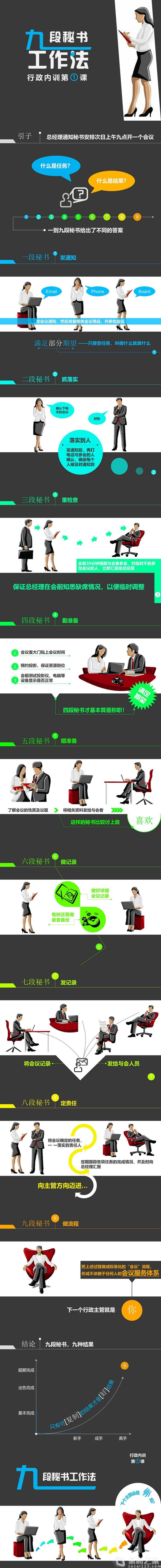 九段秘书行政内训PPT模板