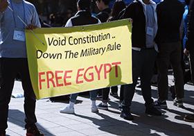 黃色游行示威Banner