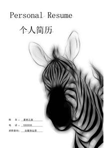 斑马自媒体简历封面模板