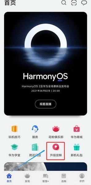 鸿蒙系统怎么升级?华为鸿蒙系统Harmony OS升级方法1