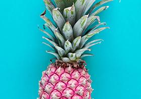 创意粉红菠萝高清图
