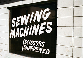 黑色缝纫机宣传横幅