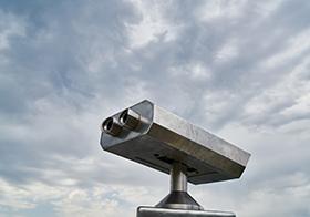 观景投币式望远镜高清图