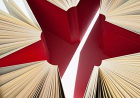 创意红色五角星高清图