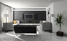 灰白系客厅装饰高清图