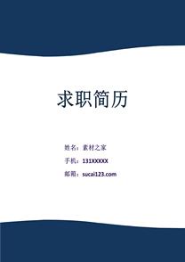 简约网络工程师简历封面模板